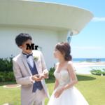 結婚式の後✨お外でファーストバイト❤️1番お気に入りの写真【余興、プレゼントtime…】