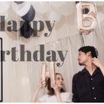 彼の誕生日でした☆<Br>バルーンでお家を飾り付け!<Br>手作りご飯でお祝いしたよ♡