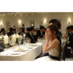 披露宴START!!❤️自作オープニングムービーサプライズインタビューで初っ端から泣く!
