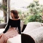 ランチデート147cmコーデ♡<Br>ウエストが細く見えるスカート!?<br>テラスが可愛いイタリアン♡