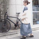 【147cmコーデ】久しぶりの自由が丘Shiro cafeと、くすみカラーにときめいちゃうワンピ。
