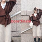 【147cmコーデ】ワッフルカーデとあったかスカート♡ // 髪色が落ちてきて、良い感じ!◎